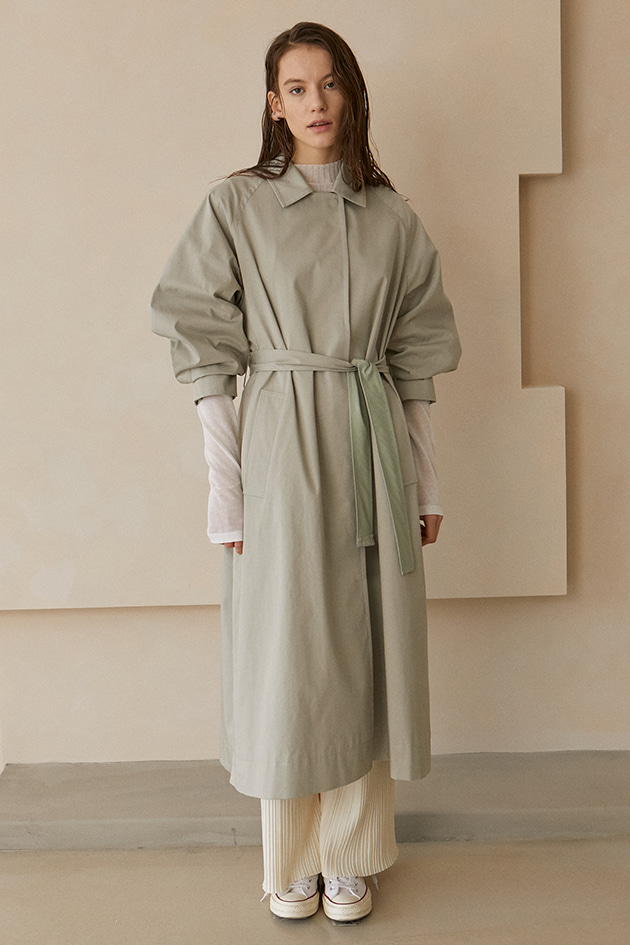 Bailey Overfit Trench Coat_Light Khaki