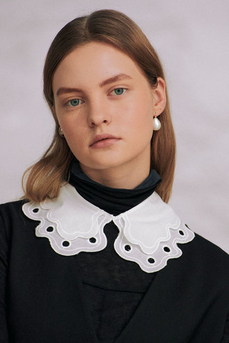 Ann Detachable Collar_White