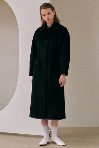 [S-12/15 예약배송]Phoebe Dart Coat_Black