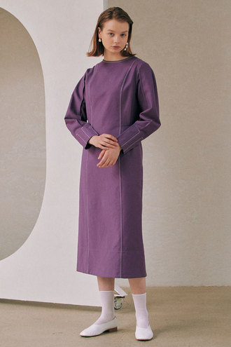 Vanessa Stitch Dress_Purple