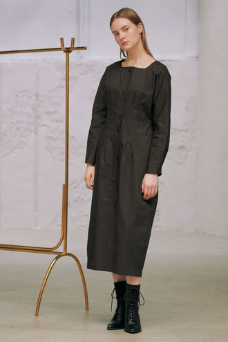 Leana Long Dress_Brown