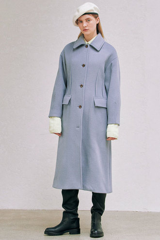 [12/15 예약배송]Phoebe Dart Coat_Blue
