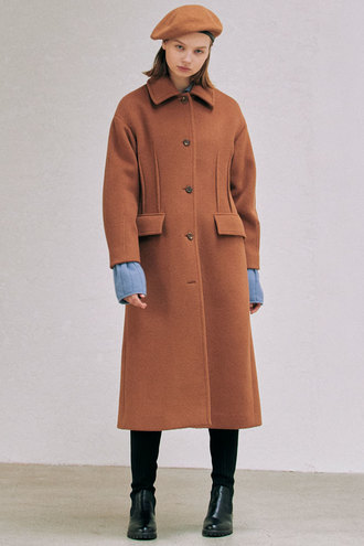 [12/15 예약배송]Phoebe Dart Coat_Brown