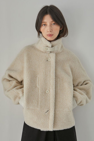 [12/14 예약배송]Blanche Reversible Short Shearing Coat_Ivory