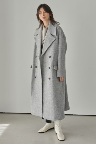 [12/18 예약배송]Piper Long Coat_Gray