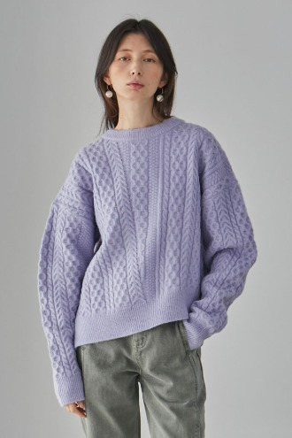 Maty Cable Knit_Purple
