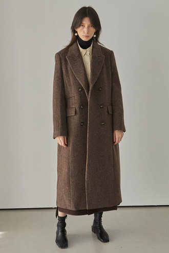 Moss Long Coat_Brown