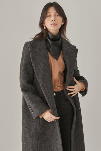[12/3 예약배송]Moss Long Coat_Black