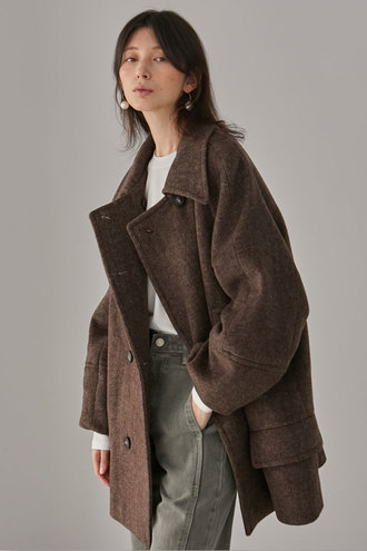 Mullen Half Long Coat_Brown
