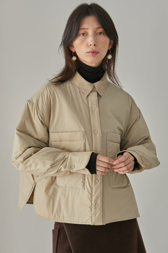 Chouette Padded Shirt_Beige