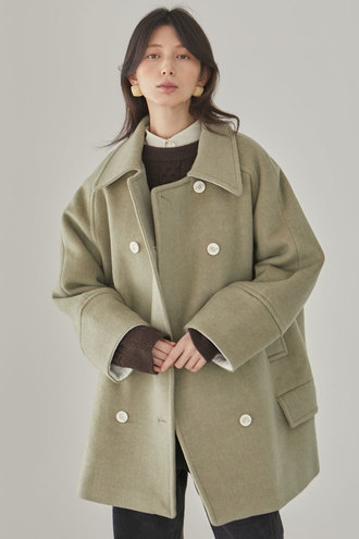[12/3 예약배송]Mullen Half Long Coat_Light Green