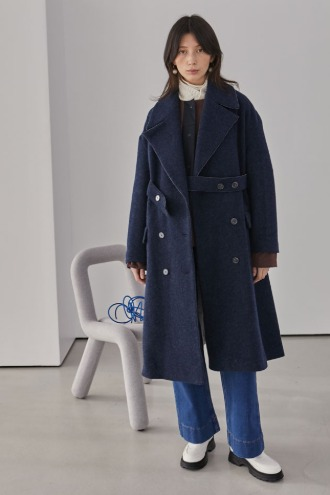 Piper Long Coat_Navy