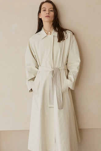 Bailey Overfit Trench Coat_Ivory