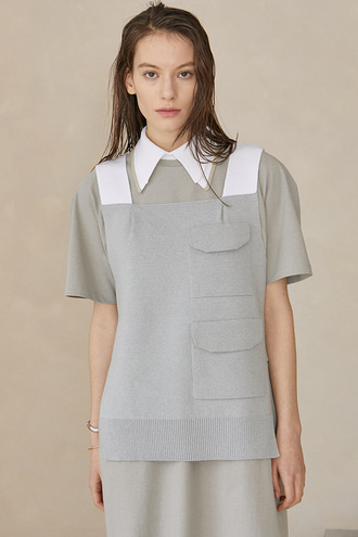 Soo Pocket Vest_Light grey