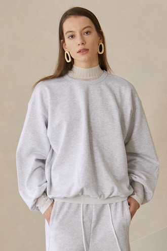 Bijou Puff Sweat Shirt_Light Grey