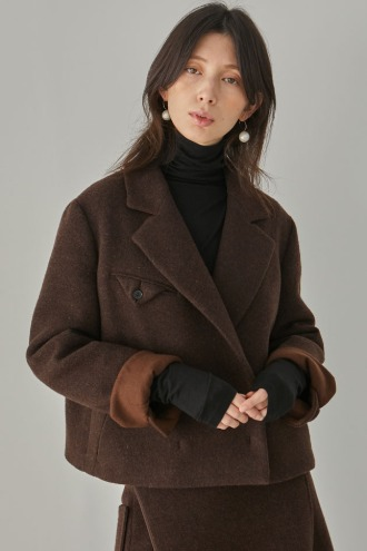 Ophelie Short Jacket_Brown