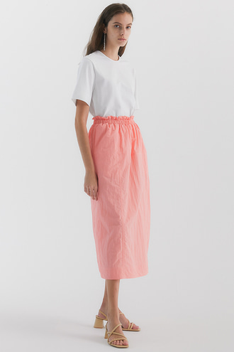 Lola Shirring Skirt_Peach
