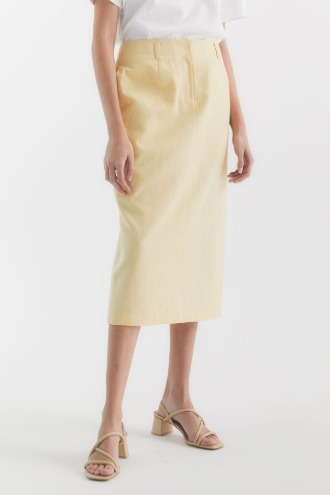[정소민 착용]Merci H-line Skirt_Light Yellow